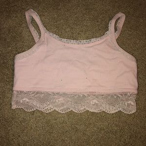 Girls 11/12 Pink Bralette with Sparkles/Glitter